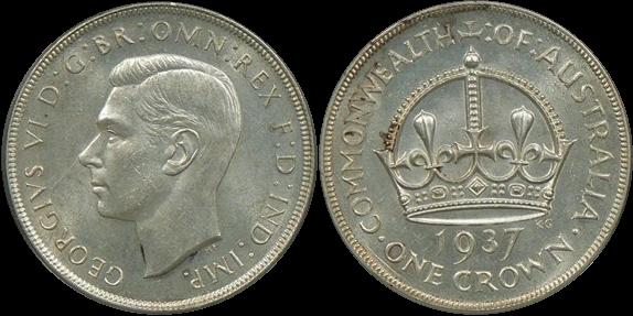 Australia 1937 Crown