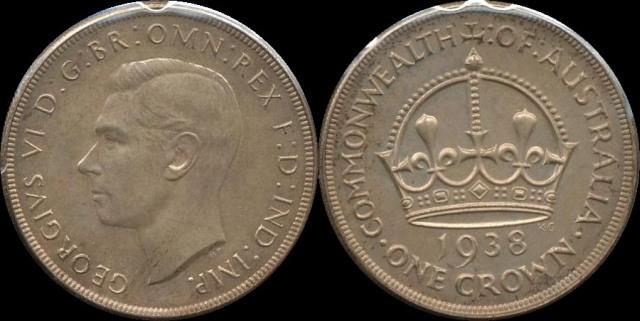 Proof Australia 1938 Crown